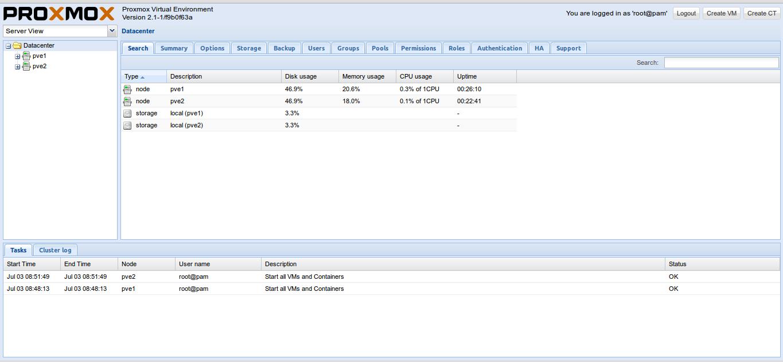 Tips Virtualization : Membuat Cluster Server pada Proxmox 2 1 – PT