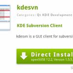 Aplikasi Subversion Terintegrasi dengan KDE 4.X pada openSUSE : KDESVN
